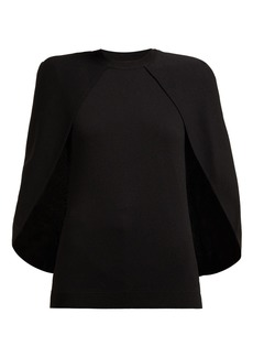Givenchy Cape-panel jersey top