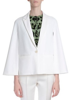 Givenchy Cape-Sleeve One-Button Jacket