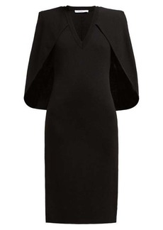 Givenchy Cape stretch-knit midi dress