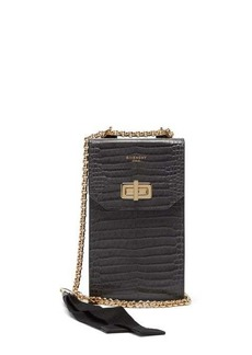 Givenchy Catena crocodile-effect leather phone case