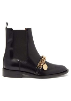 Givenchy Chain-embellished leather Chelsea boots