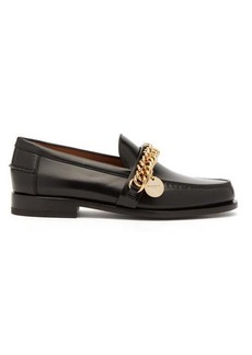 Givenchy Chain-embellished leather loafers