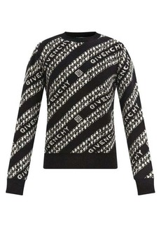 Givenchy Chain-jacquard wool-blend sweater