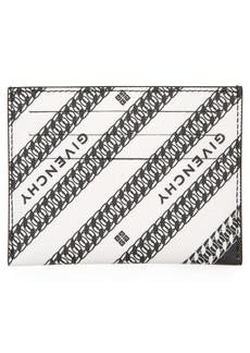Givenchy Chain Logo Print Coated Canvas Card Holder