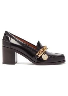 Givenchy Chain-strap block-heel leather pumps