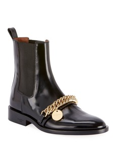 Givenchy Chain-Trim Chelsea Ankle Booties
