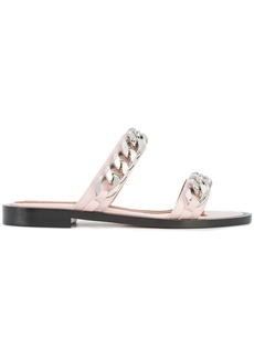 Givenchy chain trim open toe sandals - Pink & Purple