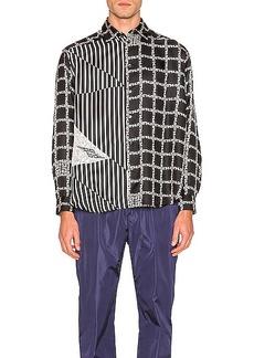 Givenchy Chains & 4G Stripe Print Shirt