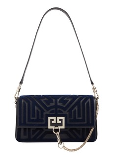 Givenchy Charm Labyrinth Tuft & Leather Shoulder Bag