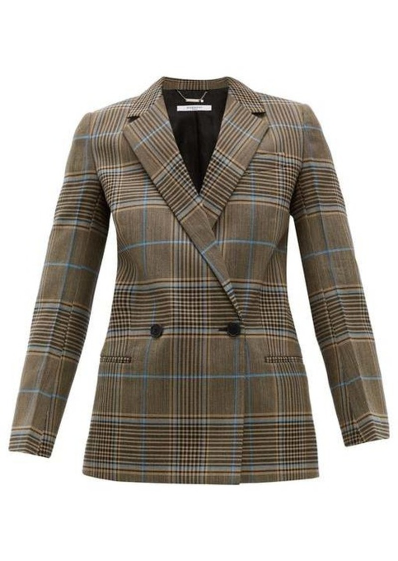 Givenchy Checked double-breasted wool-blend blazer