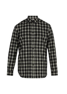 Givenchy Checked wool-blend shirt