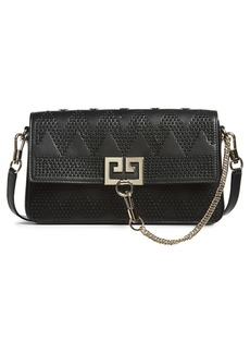 Givenchy Chevron Studded Leather Shoulder Bag