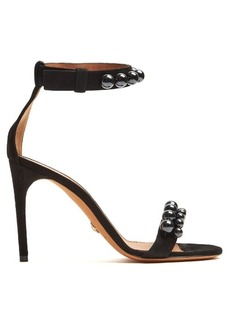 Givenchy Classic faux-pearl embellished suede sandals