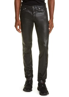 Givenchy Coated Denim Skinny Fit Jeans
