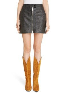 Givenchy Coated Leather Miniskirt