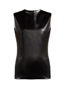 Givenchy Coated-satin sleeveless top