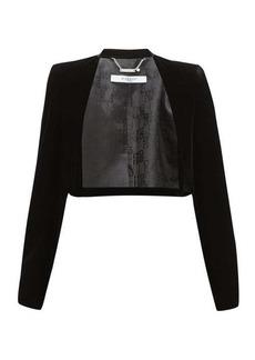 Givenchy Collarless velvet bolero jacket