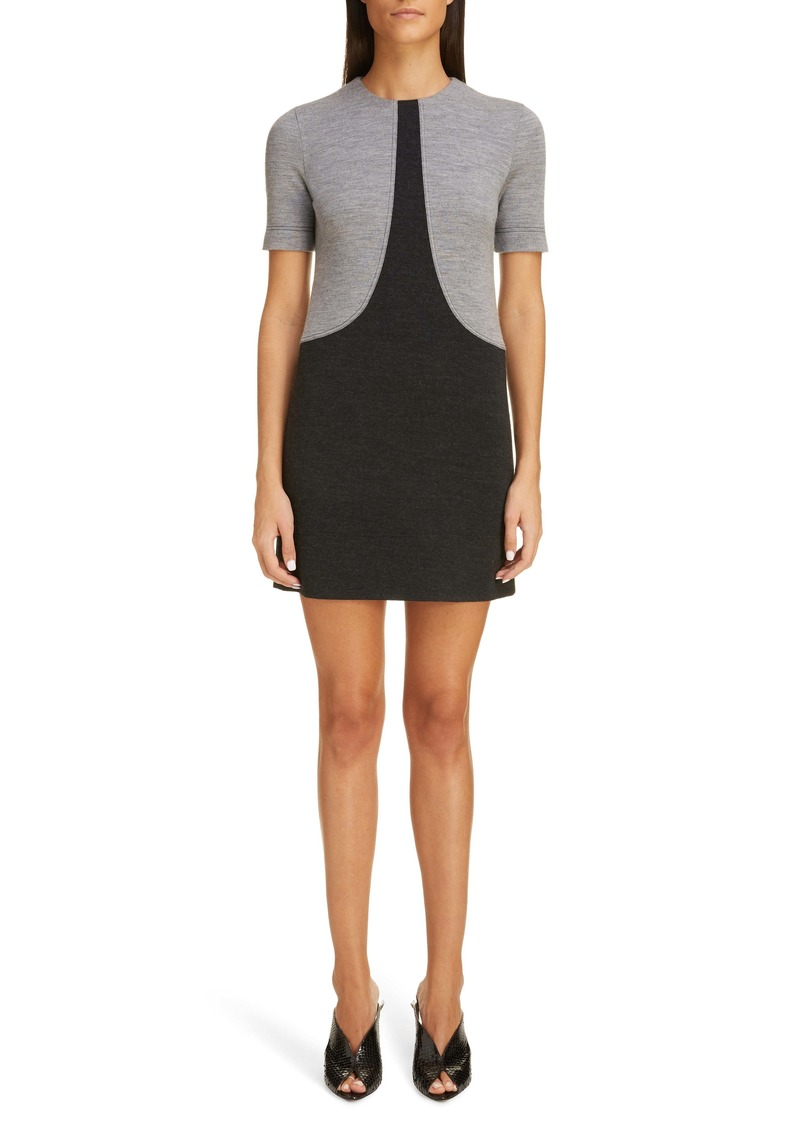 Givenchy Colorblock Wool Jersey Shift