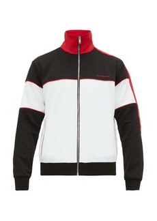 Givenchy Colour-block logo-embroidered zip-up track top