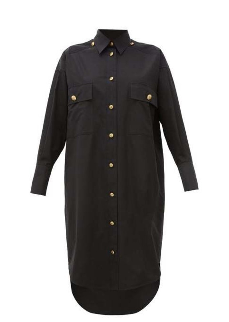 Givenchy Compact oversized cotton shirtdress