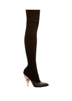 Givenchy Cone-heel over-the-knee suede boots