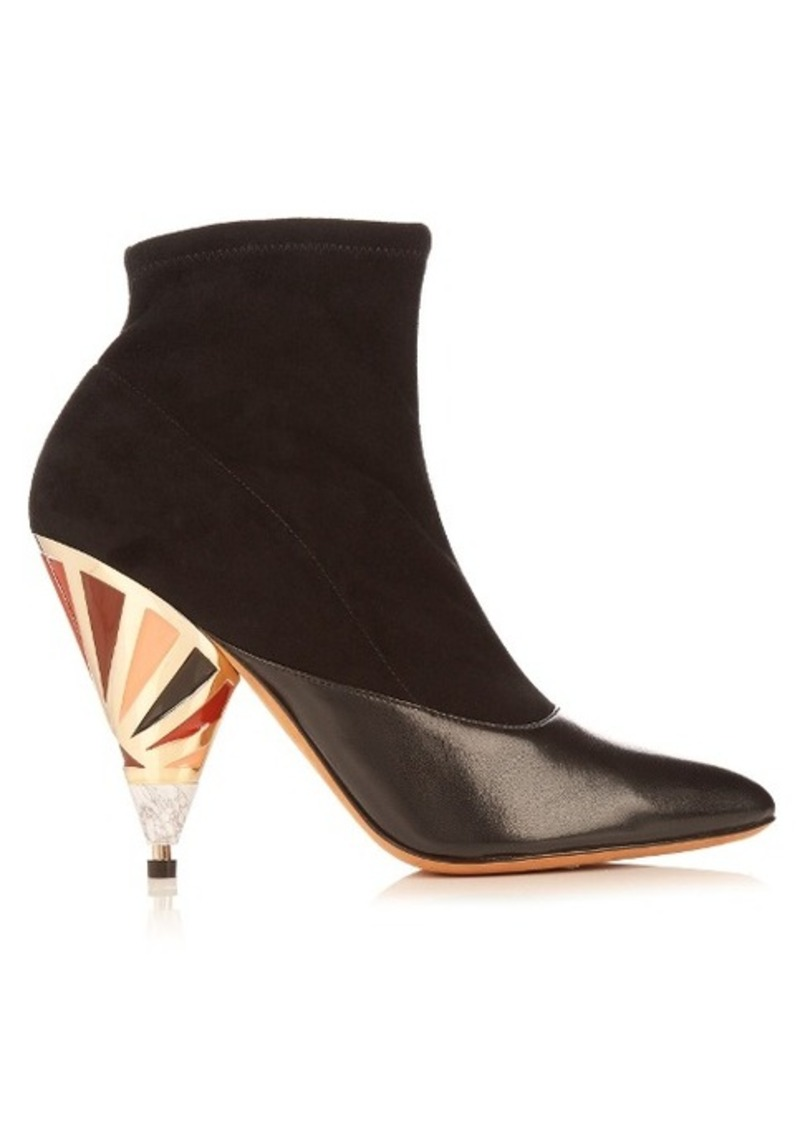 Givenchy Cone-heel suede ankle boots