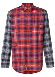 Givenchy contrast check shirt