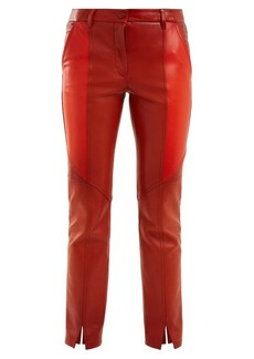 Givenchy Contrast-panel skinny leather cropped trousers
