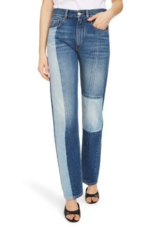 Givenchy Contrast Panel Straight Leg Jeans