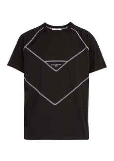 Givenchy Contrast-stitch logo-print cotton T-shirt