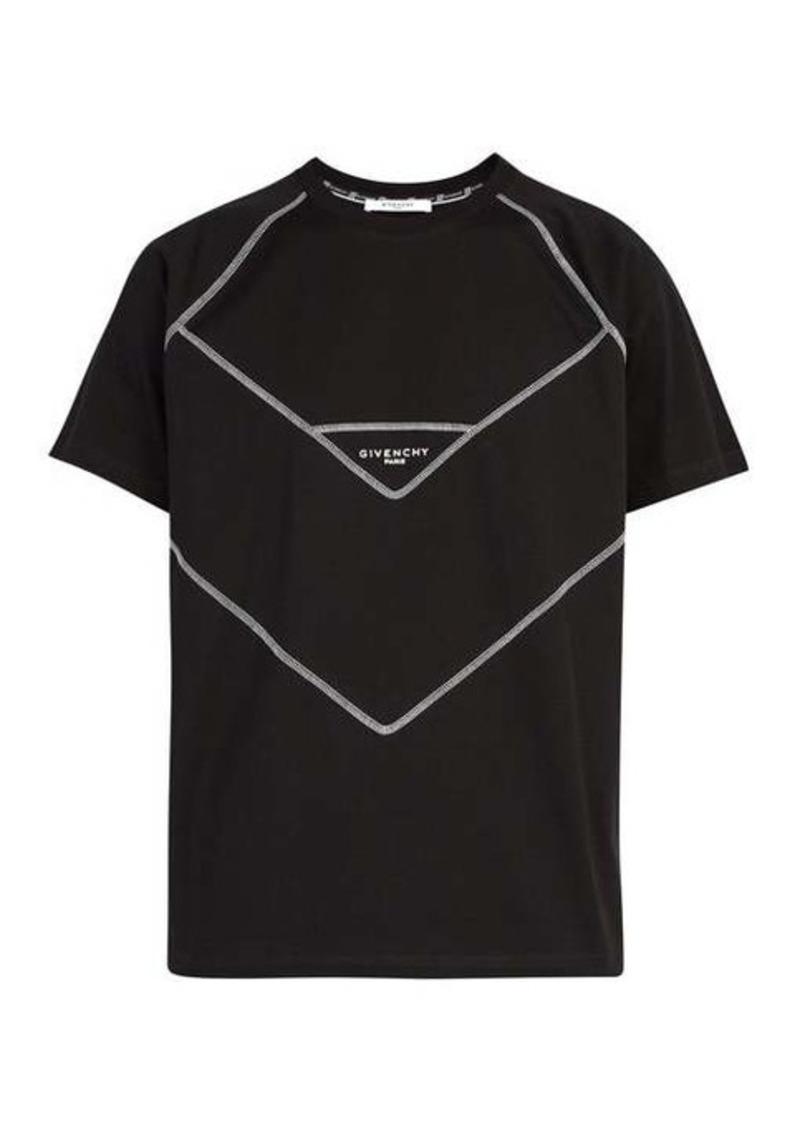 Givenchy Contrast-stitch logo-print cotton T-shirt