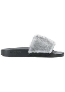 Givenchy contrast strap slides - Grey