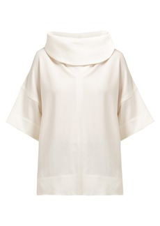 Givenchy Cowl-neck stretch-jersey top