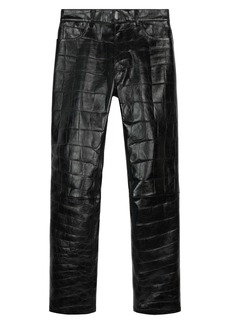 Givenchy Croc Embossed Leather Trousers