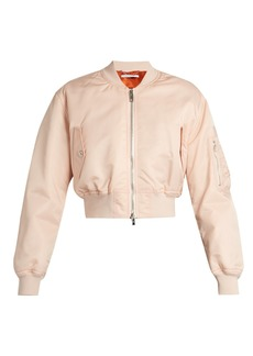 Givenchy Cropped twill bomber jacket