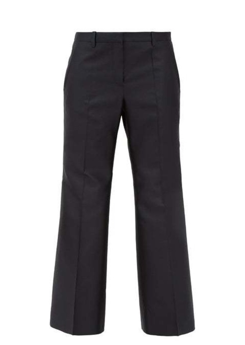Givenchy Cropped wool-blend twill kickflare trousers