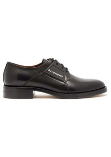 Givenchy Cruz rubber-logo leather derby shoes