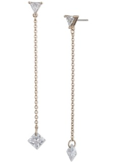 Givenchy Crystal & Chain Linear Drop Earrings