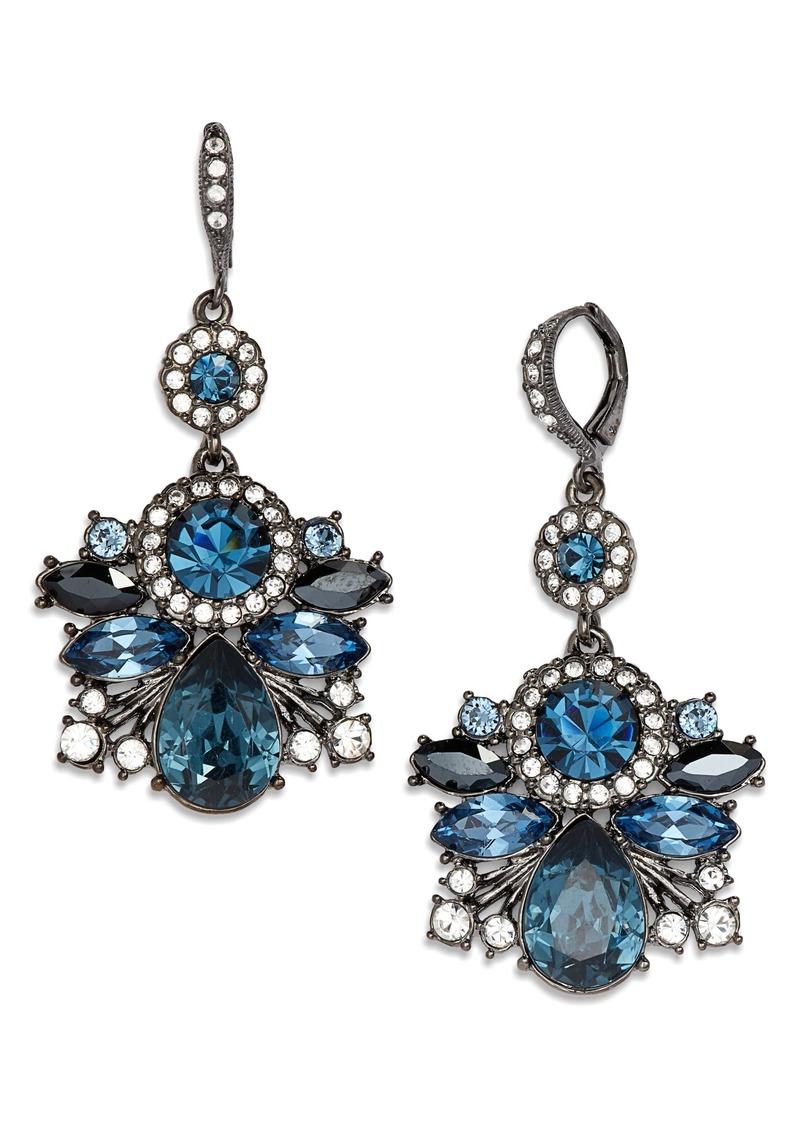 9854e39a6d1a2 Crystal Cluster Drop Earrings
