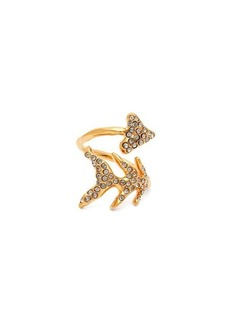 Givenchy Crystal-embellished arrow ring