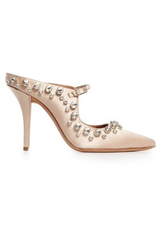 Givenchy Crystal-embellished point-toe satin mules
