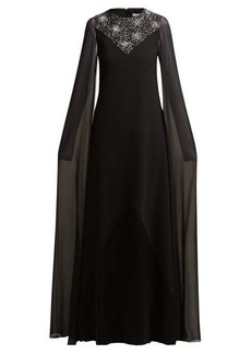 Givenchy Crystal-embellished wool and silk-chiffon gown