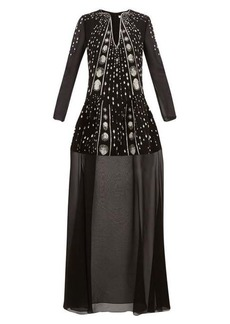 Givenchy Crystal-embellished wool-crepe gown