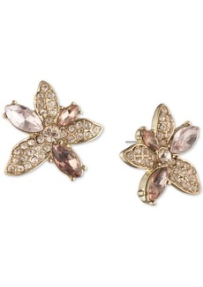 Givenchy Crystal Flower Button Earrings