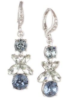 Givenchy Crystal Flower Drop Earrings