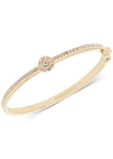 Givenchy Crystal Flower Hinged Bangle Bracelet