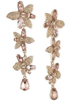 Givenchy Crystal Flower Linear Earrings