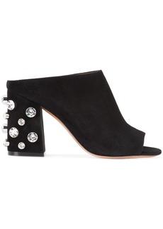 Givenchy crystal heel mules - Black