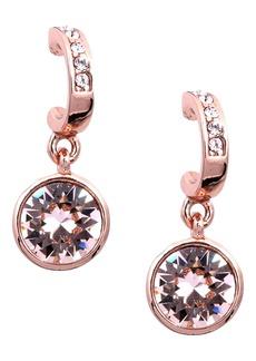 Givenchy Crystal Hoop Drop Earrings