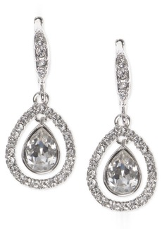 Givenchy Crystal Orbital Pave Drop Earrings
